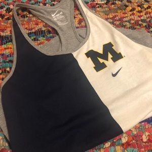 "Women's Nike Racerback ""Michigan"" Tank"